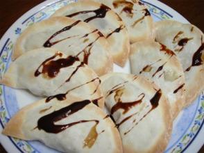 餃子皮ピザ(チョコバナナ)