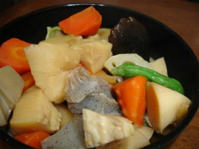 筑前煮野菜の柚子煮