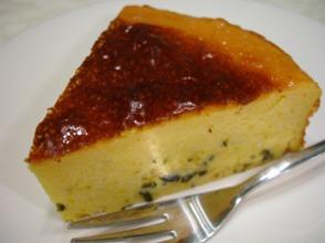 カボチャのクリームチーズケーキカット
