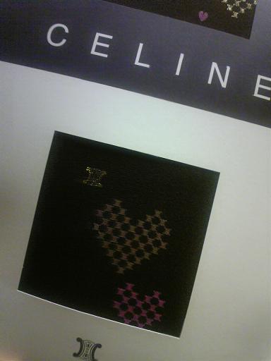 CELINE(セリーヌ)のハート柄タイツ♪