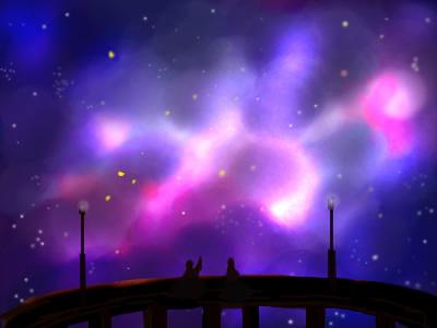 夢に見た星空