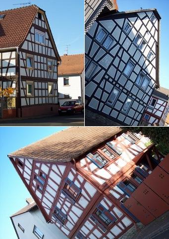 ドイツの木組みの家々