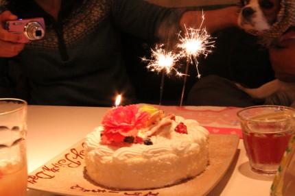 かみんちゃんとエリーのお誕生日ケーキ
