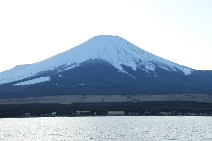 山中湖から見る富士山