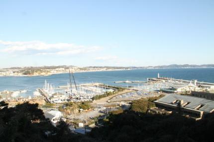 展望台から見たヨットハーバー