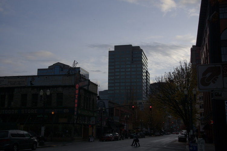 Portland downtown in 2009秋2