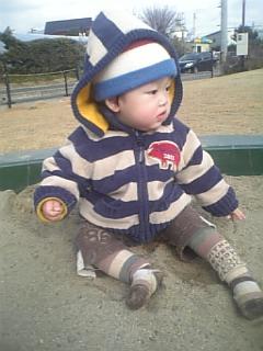 砂場で遊んだよ~