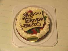 HALF BIRTHDAY ケーキ