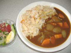カレー筍ご飯