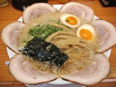 獅子丸・チャーシュー麺こってり+味付玉子