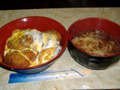 ロン・メンチカツ丼