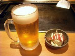もんじゃ・H20・8 生ビール大