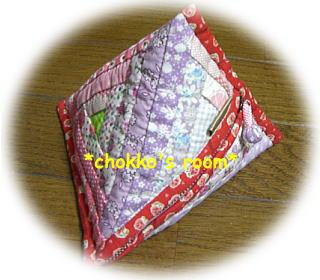 三角ログキャビンのポーチ
