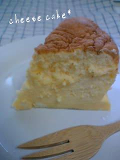 スフレチーズケーキ*