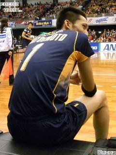 松本さんの背中。