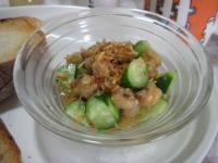 ひよこ豆ときゅうりのサラダ