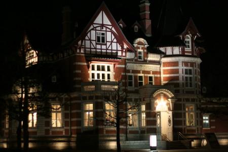 国際友好記念図書館(夜景)