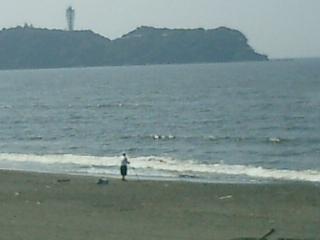 江ノ島と釣り師