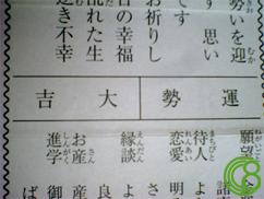 2006年おみくじ
