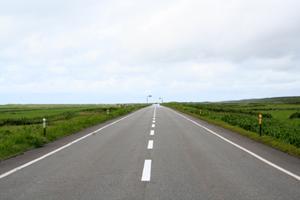 北海道の道路。
