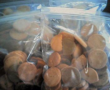 豆乳おからクッキーは小分けにして保存