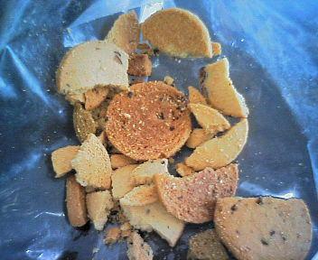 豆乳おからクッキー 最後は粉々だったり・・・