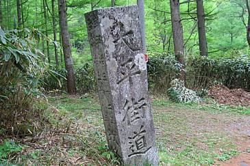 大平街道 飯田峠の碑