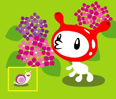 紫蝸牛 + 繡球花
