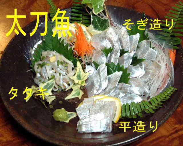 太刀魚 刺身