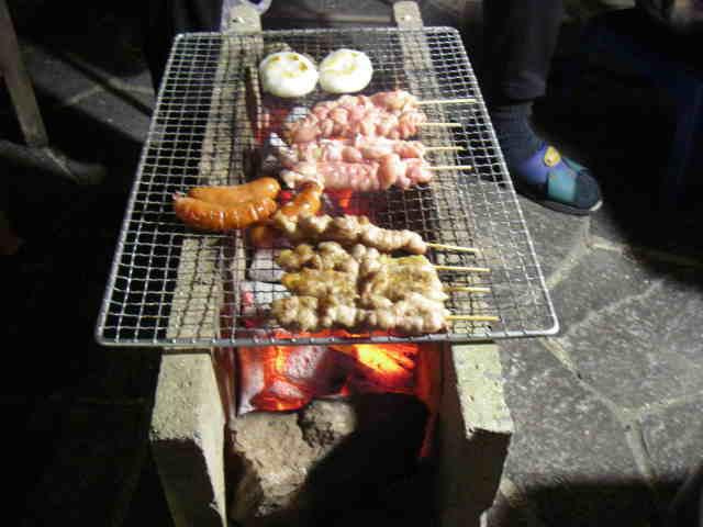 「炭火焼鳥、ホイル焼き」 自宅でバーベキュー - 魚料理と簡単 ...
