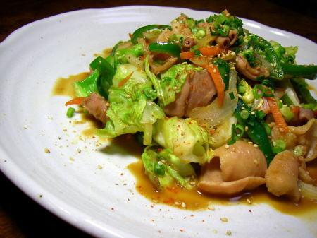 ホルモン野菜炒め3