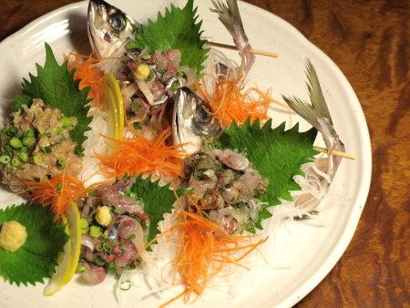 鯵のタタキ三味3