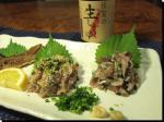 秋刀魚なめろう、たたき、ユッケ、刺身、骨煎餅3