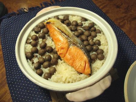 鮭とむかごの炊きこみご飯11