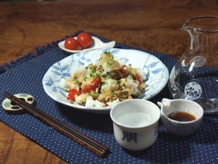 太刀魚唐揚おろしポン酢9