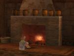 暖炉の火さえ冷たい