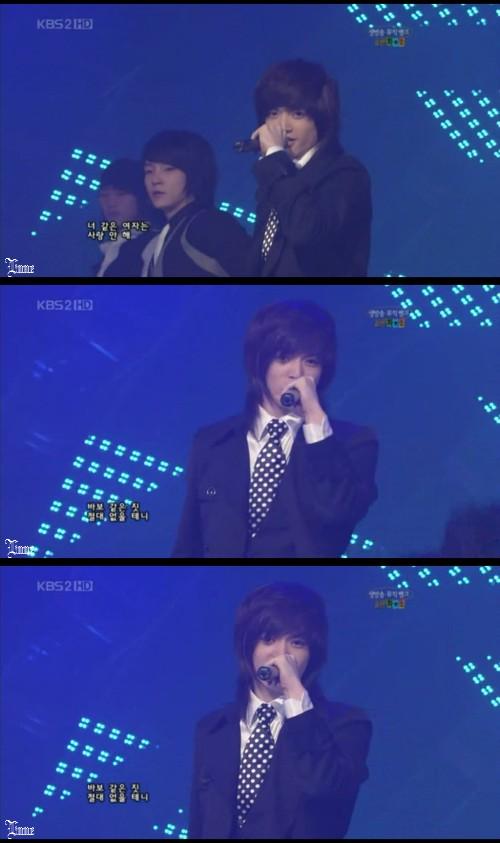 Music Bank - ソンモパートを歌うソンジェ