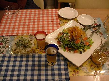前菜とサラダです
