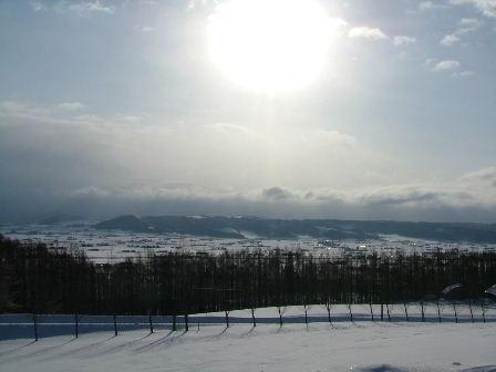 コテージから見る富良野の風景