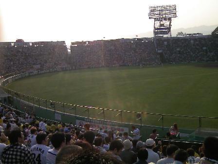 試合前の風景