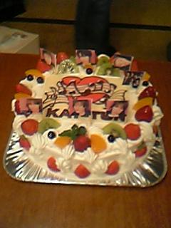 ビューお祝い会のケーキ♪