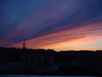 キッチンからの夕方の眺め