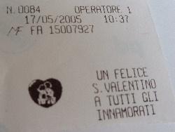 5月なのに『ハッピー・バレンタイン』のレシート