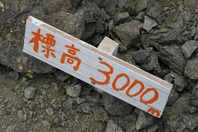 標高3000m