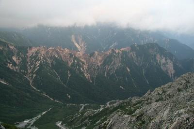双六岳方面を臨む