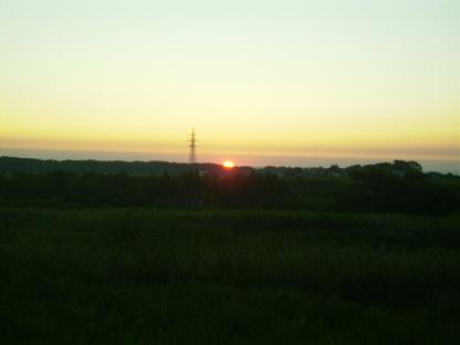 0805帰りの夕日