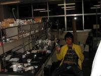 実験室で♪