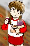 焼き芋をほおばる少女。サツマイモを嫌いな女の子は少ないと思うが、なぜか人前で食べるのを恥ずかしがってしまう。