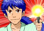 「MUSASHI~GUN道~」の主人公・ミヤモトムサシ。うおっまぶし!