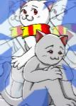 2人の風船猫…。